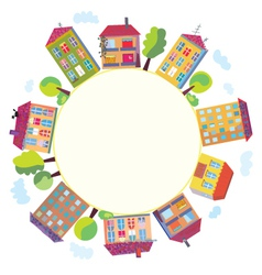 township frame vector image vector image