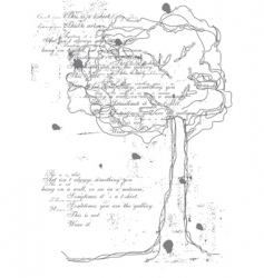 tree of words vector image vector image