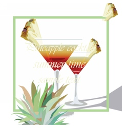 Two cocktail glasses vector