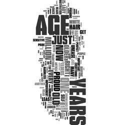 You re how old text word cloud concept vector