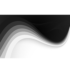 Abstract black background with wave vector image