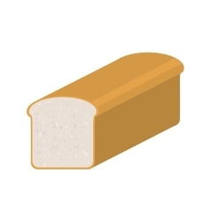 Full color with long bread vector