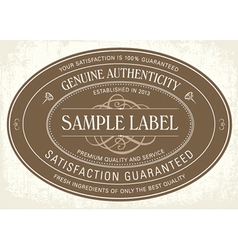 Sample classic label vector