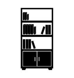 library books case isolated vector image