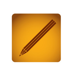 ochre square frame with striped pencil vector image