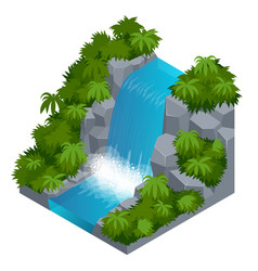 waterfall in tropical forest build your own vector image