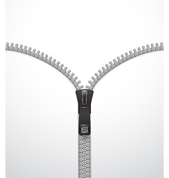 Zipper template vector