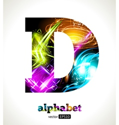 Design Abstract Letter D vector image