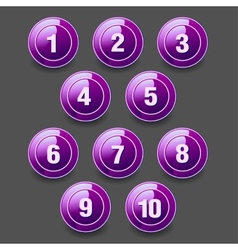 Set of round buttons vector