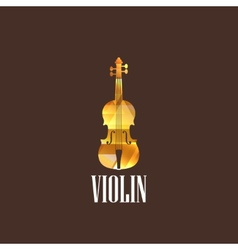 With violin icon vector