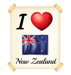 I love new zealand vector