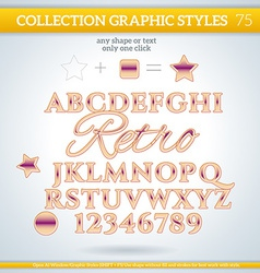 Retro graphic styles for design use for decor text vector