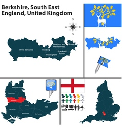 Berkshire south east england vector