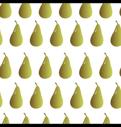 pear repeatable seamless pattern vector image