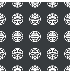 Straight black global network pattern vector