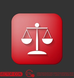 Scales of justice icon vector