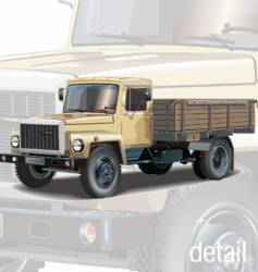 Classic lorry vector