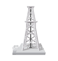 Oil rig cartoon icon vector image