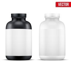 Mockup sport vitamin container vector