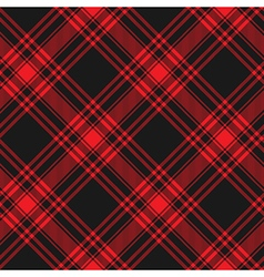 Menzies tartan black red kilt diagonal fabric vector
