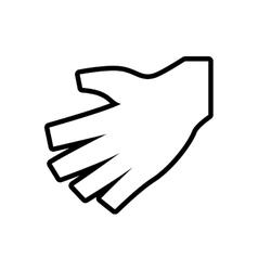 Human hand icon gesture design graphic vector