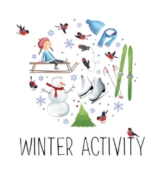 About winter outdoor vector