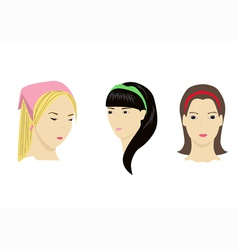 accessories for hair vector image