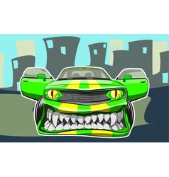 Angry car vector image vector image