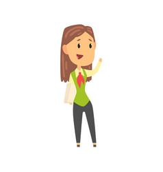 businesswoman character in formal wear standing vector image vector image