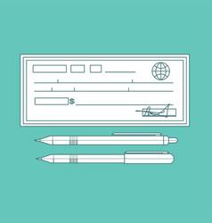 Cheque contour cheque icon in vector