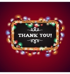 Christmas Lights Thank You Banner vector image vector image