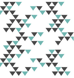 colorful retro hipsters triangle pattern vector image vector image