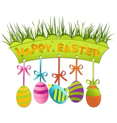 Easter board vector image