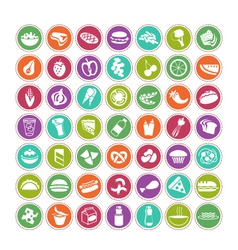 Food icons set 4 vector