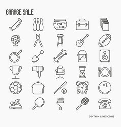 Garage sale or flea market related icons vector
