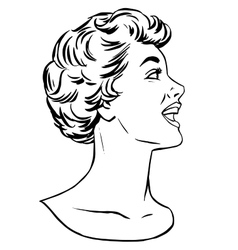 Girl agitator line art vector image