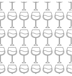 Glass with wine background icon vector
