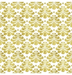 Gold damascus pattern vector