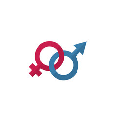 Isolated gender signs flat icon sexuality symbol vector