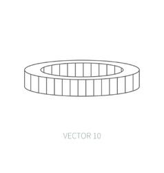 Line flat icon car repair part - air filter vector