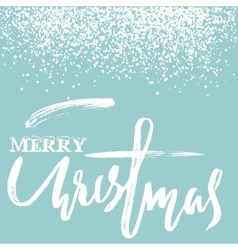 Merry christmas grunge lettering design on blue vector