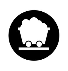 mine wagon isolated icon vector image