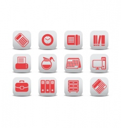 office equipment icons vector image vector image