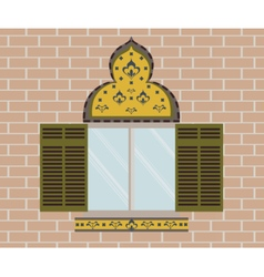 Oriental ornamented window vector