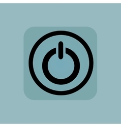 Pale blue power sign vector