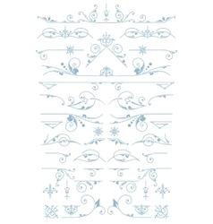 Premium accents vintage ornaments design vector