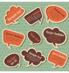 Set of retro speech bubbles vector