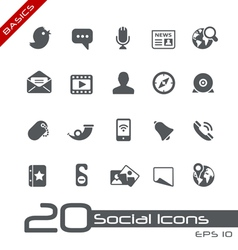 Social Media Basics Series vector image vector image