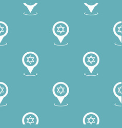 Synagogue map pointer pattern seamless blue vector