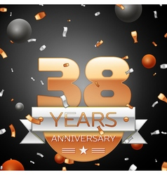 Thirty eight years anniversary celebration vector